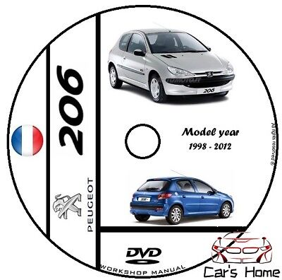 MANUALE OFFICINA PEUGEOT 206 my 1998-2012 MANUEL OFFICIEL DVD