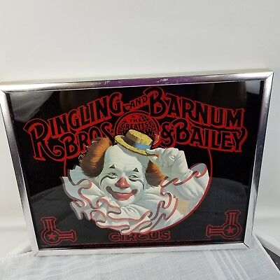 Vintage Ringling Brothers Barnum & Bailey Circus Quality Clown Framed Print 1978