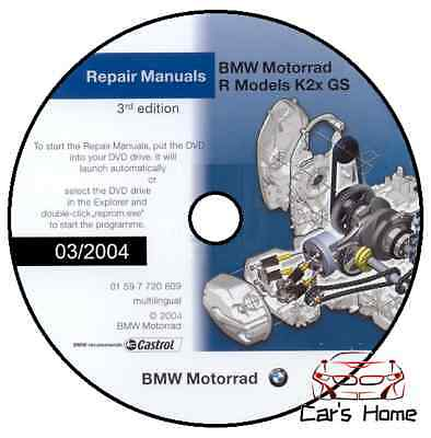 Manuale Officina Bmw F650 F 650 Cs Gs Dakar Workshop Manual 03/2004 Reprom Dvd