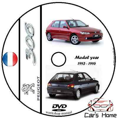 MANUALE OFFICINA PEUGEOT 306 my 1993-1995 WORKSHOP MANUAL DVD