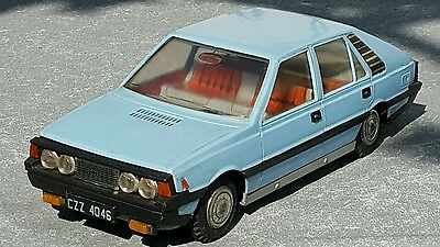 Vintage Car Polonez Fiat Tin And Plastic Toy Czz 4046 Rare Made In Poland Proud