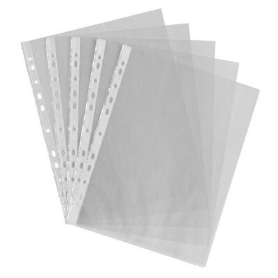 A4 Clear Plastic Punched Pockets Filing Folders Wallets Sleeves value pack