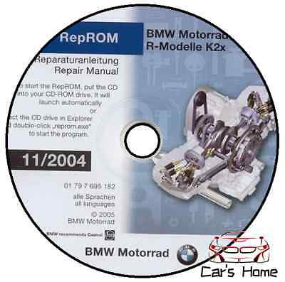 Manuale Officina Bmw R 1200 Gs V11/2004 Workshop Manual Service Software Reprom