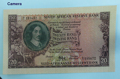 SOUTH AFRICA Twenty Rand 1961 *M.H. de Kock*  AU-UNC  (BR205)