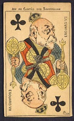King Edward VII club playing card postcard, a/s on bottom right - Jeu de Cartes