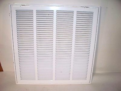 "HART & COOLEY STEEL RETURN AIR GRILLE VENT COVER , 20"" X 20""NIB, White"