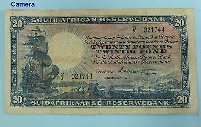 SOUTH AFRICA Twenty Pounds 1928 **W.H. Clegg**  (BR206)