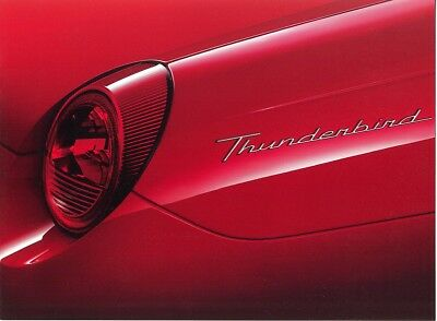 2002 Ford Thunderbird Auto Show Edition Intro Sales Brochure - Mint!