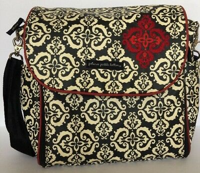 Petunia Pickle Black White Large Diaper Bag Backpack Tote with changing pad