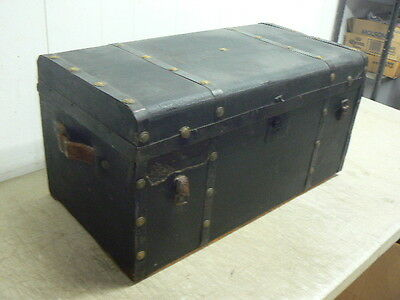 Antique Steamer Trunk Footlocker, Touring Motor Car Auto Trunk?