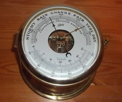Dekoratives Schiffs-Barometer Von Schatz,made In West-Germany  #6765