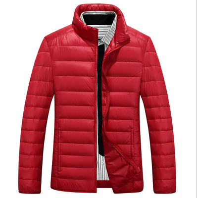 New Men's Fashion Duck Down Winter Jacket Padded Coat Red