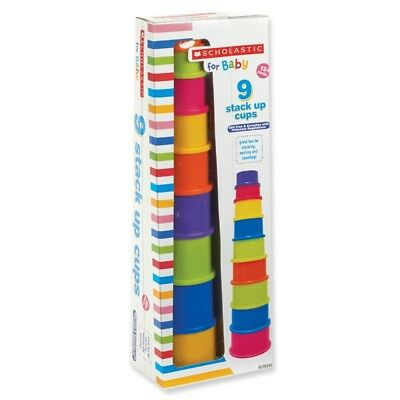NEW Scholastic for Baby 9 Stack Up Tower Cups Learning Toy (BPA-free) NIP