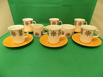 J G Meakin Retro 14 Piece Coffee Set