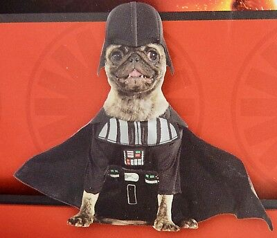 Rubies Costume Star Wars Collection Darth Vader Pet 2 Piece Outfit Size S Dog