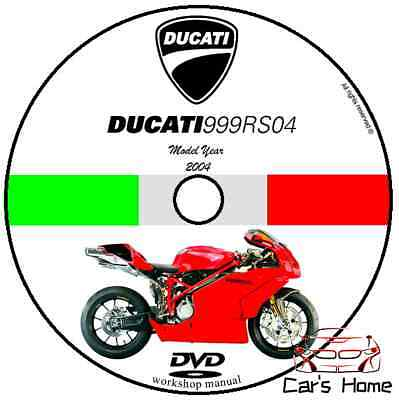 Manuale Officina Ducati 999 Rs My 2004 Workshop Manual Service Cd Dvd