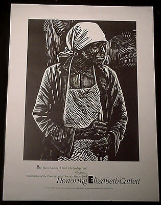 """""""honoring Elizabeth Catlett"""", Graphic Artist, Limited Edition 24 X 18 Poster"""