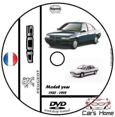 MANUALE OFFICINA PEUGEOT 405 my 1987 - 1997 WORKSHOP MANUAL DVD