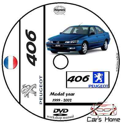 MANUALE OFFICINA PEUGEOT 406 my 1999 - 2002 WORKSHOP MANUAL DVD