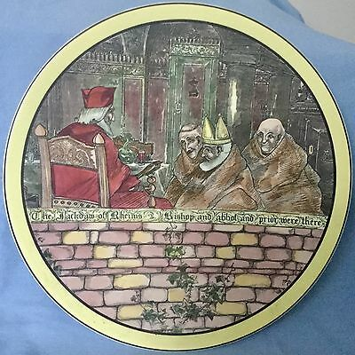 Vintage Royal Doulton  The Jackdaw Of Rheims  Wall Charger  Series Ware 1938