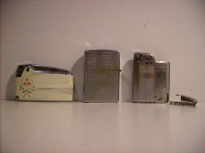 Vintage Lighter Lot, 1966 Zippo (? Navy), Ranson Varaflame & Ranson Essex