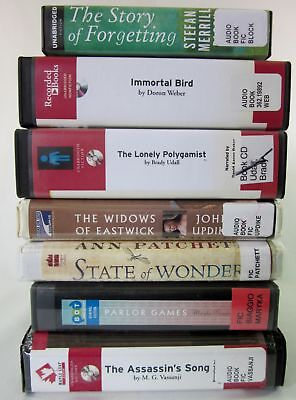 Lot of 7 Audiobooks on CD Mixed General Fiction, Updike, Udall, Weber, Merrill