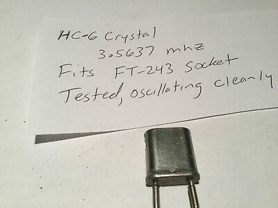 80 meter CW crystal, 3.563.7, has adapter pins so fits in any Ft-243 socket.