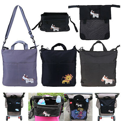 Baby Stroller Pushchair Organizer Cartoon Waterproof Carriage Storage Mummy Bag