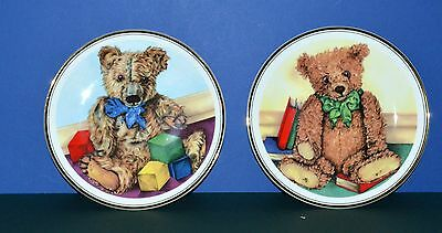 Two Royal Vale Teddy Bear  Decorative Collector Plates