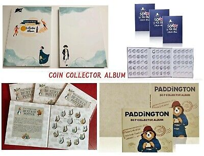 2017 NEW UK 50p £2 £1 Olympic 50p Coin Hunt Collector Album Folder Xmas gift