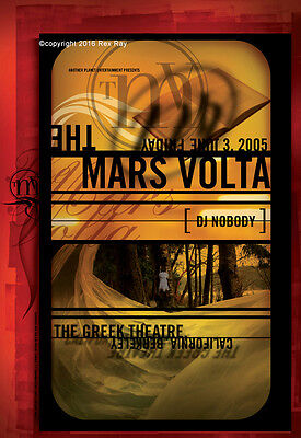 OFFICIAL REX RAY COLLECTION STORE - Rex Ray - THE MARS VOLTA POSTER 2005 GREEK