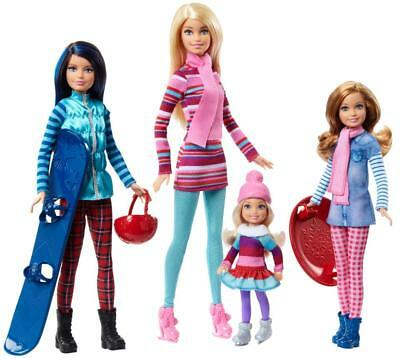 Barbie Sisters Winter Getaway Fashion Dolls Barbie, Skipper, Stacie and Chelsea