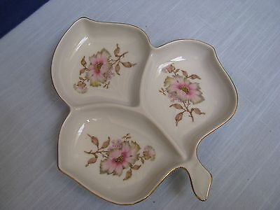 MITTERTEICH Bavaria XMAS Rose 3 Part Leaf Serving Dish Relish Candy Nut Plate V