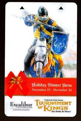 EXCALIBUR casino*HOLIDAY SHOW *NEW~Las Vegas hotel key card*Free Fast Shipping!