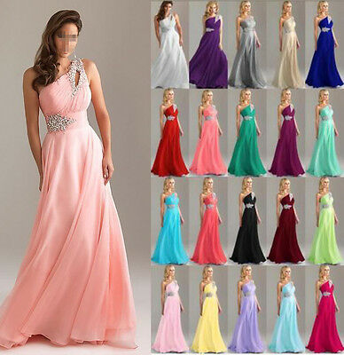 Hot Long Chiffon Wedding Formal Evening Party Bridesmaid Ball Gown Prom  Dress