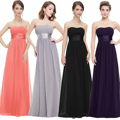 Women`s Long Evening Dress Formal Bridesmaid Wedding Ball Gown Prom Party  New
