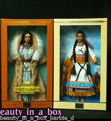 Spirit of the Sky Earth Native Spirit American Barbie Doll Lot 2 EXC