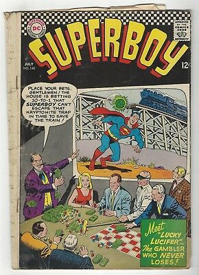 Superboy 140! Fr 1.0! Cool Silver Age Dc Comic Book!