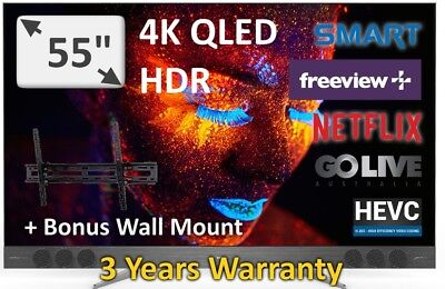 "TCL 55"" Top of the Range Quantum Dot QLED UHD HDR 2017 Model: 55X2US Android TV"