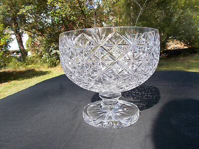 Anglo-Irish Cut Glass Bowl - Beautiful, Large, Heavy. Mint Condition