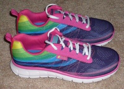 Girls Size 4 - S Sport by Skechers Sneakers Rainbow Shoes - BRAND NEW!