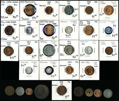 31 Old Portugal & Ex-Colony Coins (So Very Collectible) Hi-Res Scans > No Rsrv