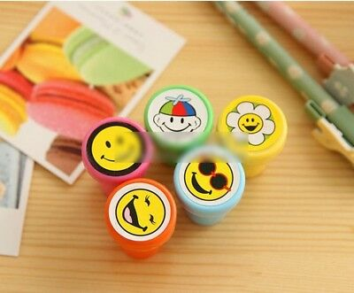50 Pcs Emoji Smile Smiley Face Stamps Set Stationery Kids Gift Party Favour Toy
