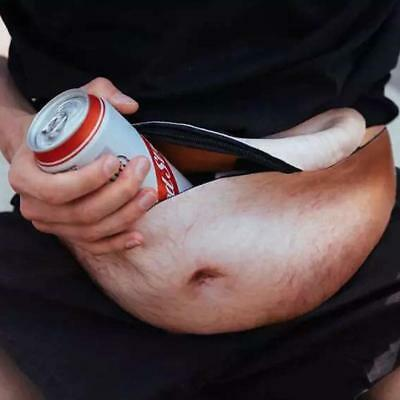 The Dad Bag Bod Waist Bags Universal Flesh Colored Beer Fat Belly Fanny Pack Fun