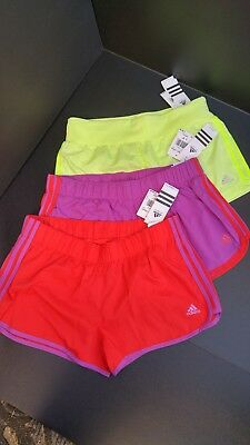 Nwt Adidas Woman's Short Running, Tennis Zumba 2 In One Retail $28 Dlls Lot Of 3