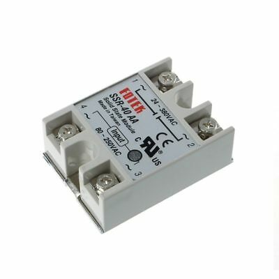 SSR-40AA 40A 250V 3-32V DC Input 24-380V AC Output Solid State Relay Module