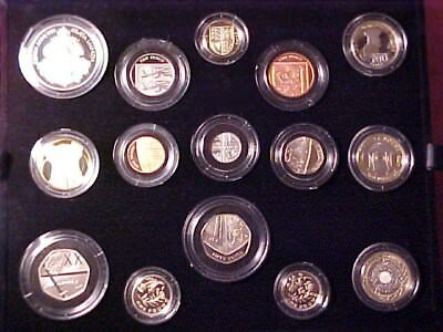 Great Britain United Kingdon 14-Coin Premium Proof Set 2014 Gem With Rare Medal