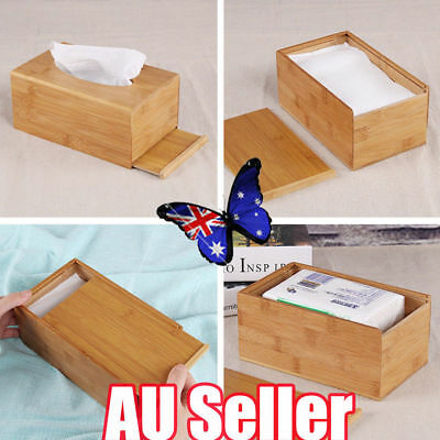 Large Home Room Car Hotel Tissue Box Wooden Box Paper Napkin Holder Case ON