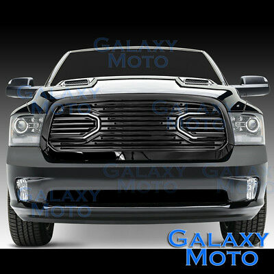 13-17 Dodge RAM Truck 1500 Front Hood Big Horn Black Replacement Grille+Shell