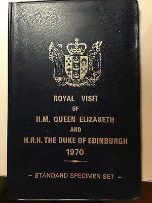 New Zealand 1970 Royal Visit Speciment Coin Set Uncirculated